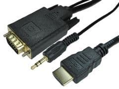 PRO SIGNAL 77HDMIVGCBL033  1M Hdmi To Vga Cable W Audio Cable